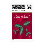 Holly Holiday Postage, Red