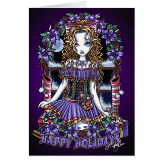 Holly Holidays Christmas Party Candy Angel Card