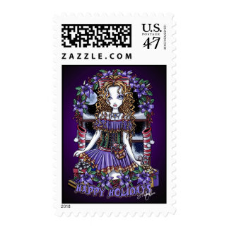 Holly Holidays Christmas Party Candy Angel Postage