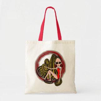 Holly in a Hoop Tote Bag