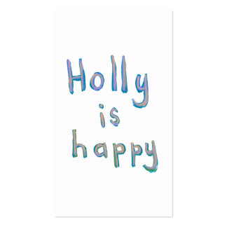Holly is happy fun cute messy name art paintings business card