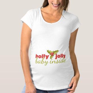 Holly Jolly Baby Inside Maternity T-Shirt