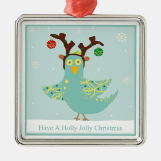 Holly Jolly Birdie Ornament