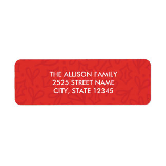 Holly Jolly Christmas Address Labels - Red