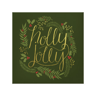 Holly Jolly Christmas Canvas Print