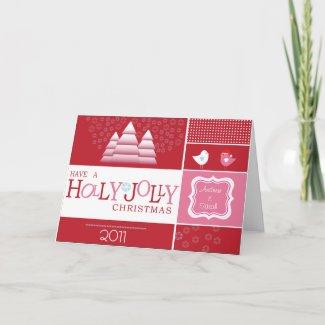 Holly Jolly Christmas Card card