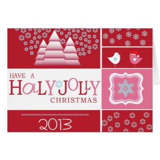 Holly Jolly Christmas {card} Greeting Card
