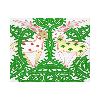 Holly Jolly Christmas Celtic Knot Painting Canvas Print