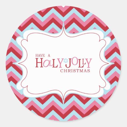 Holly Jolly Christmas Cupcake Topper/Sticker