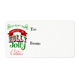 Holly Jolly Christmas Gift Label