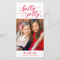 Holly Jolly Christmas Holiday Card
