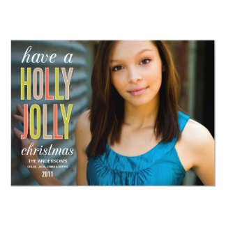 HOLLY JOLLY CHRISTMAS | HOLIDAY GREETING CARD PERSONALIZED INVITATION