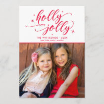 Holly Jolly Christmas Holiday Photo Card