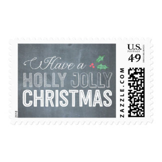 Holly Jolly Christmas Holiday Postage