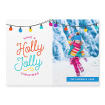 Holly Jolly Christmas Magnetic Photo Card
