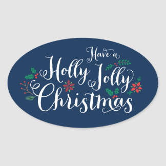 Holly Jolly Christmas | Navy Holiday Stickers