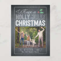 Holly Jolly Christmas Photo Card Postcard