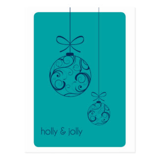 Holly & Jolly Christmas Postcard