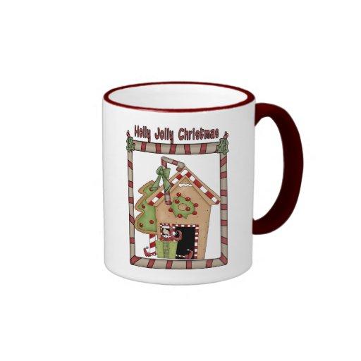 Holly Jolly Christmas Ringer Coffee Mug