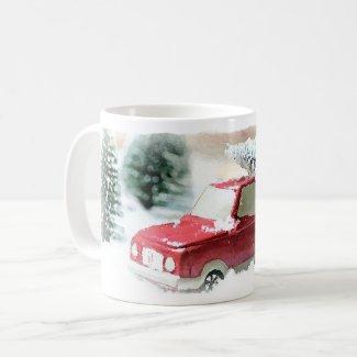 Holly Jolly Christmas Truck Coffee Mug