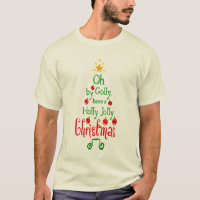 Holly Jolly Christmas Typography Classic Song, ZSG T-Shirt