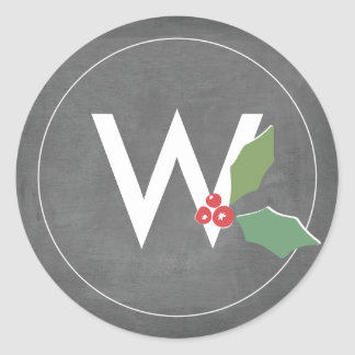 Holly Jolly Collection Classic Round Sticker