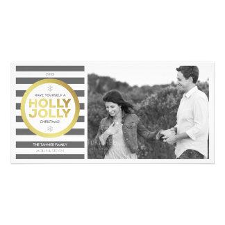 Holly Jolly Custom Greeting Photo Card