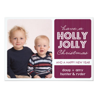 'Holly Jolly' (DEMICK) Holiday Photo Card