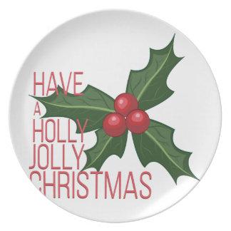 Holly Jolly Dinner Plate