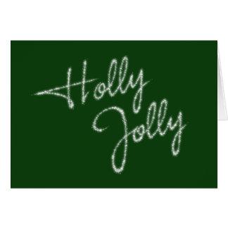 Holly Jolly Green Holiday Card