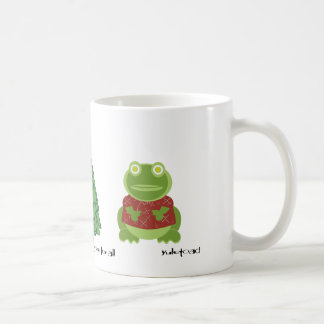 holly jolly in the forest classic white coffee mug