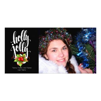 Holly Jolly Photo Card