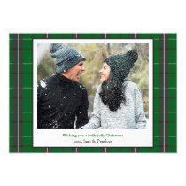 Holly Jolly Plaid Christmas Photo Card