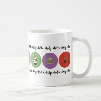 holly!jolly! polka classic white coffee mug
