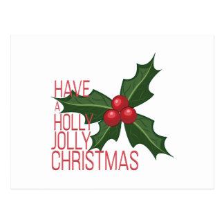 Holly Jolly Postcard