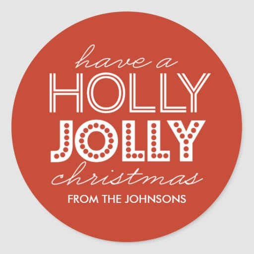Holly Jolly Red Christmas Gift...