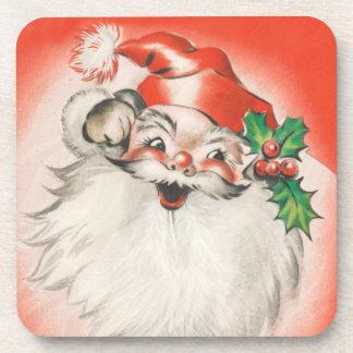 Holly jolly Santa Drink Coaster