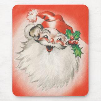 Holly jolly Santa Mouse Pad