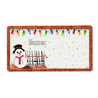 Holly Jolly Snowman  PARTY NAME TAGS