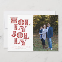 Holly Jolly Sweater Letters Holiday Photo Card