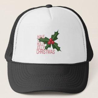 Holly Jolly Trucker Hat
