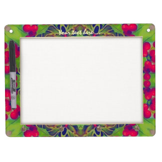 Holly Kaleidoscope Dry Erase Board With Keychain Holder
