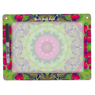 Holly Kaleidoscope Dry-Erase Whiteboard