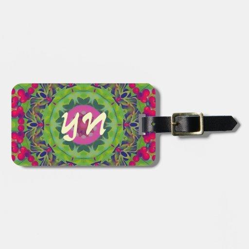 Holly Kaleidoscope luggage tag
