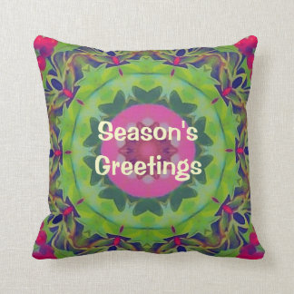 Holly Kaleidoscope Pillow