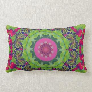 Holly Kaleidoscope Throw Pillow
