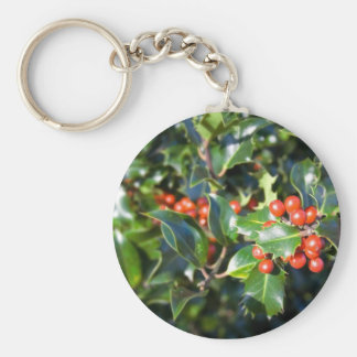 Holly Keychain