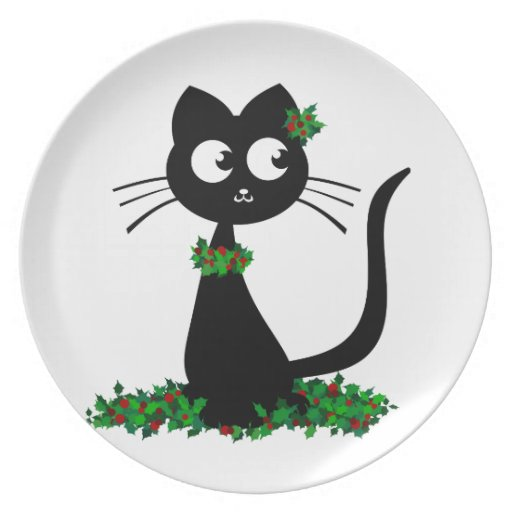 Holly Kuro Party Plate