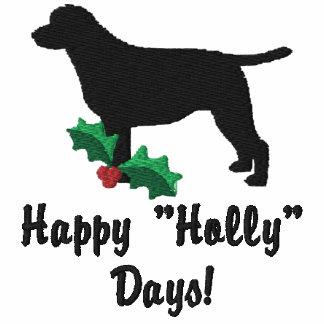 Holly Labrador Retriever Embroidered Shirt Hoodie
