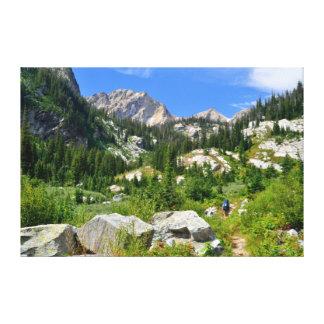Holly Lake Hiker Canvas Print